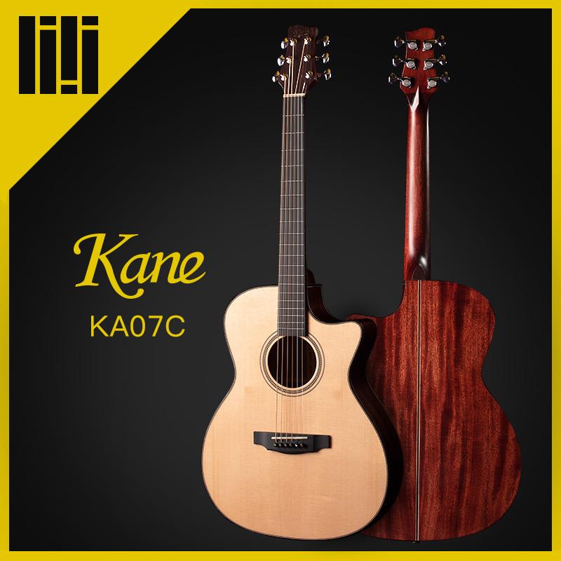 吉他平方Kane凯恩KA07C KD07初学4041寸面单板原声木民谣吉他