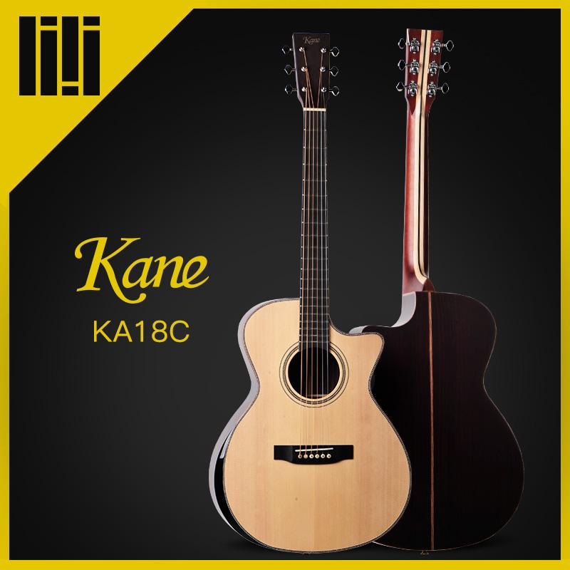 吉他平方Kane凯恩KDKA18C云杉紫檀全单板原声民谣木吉他